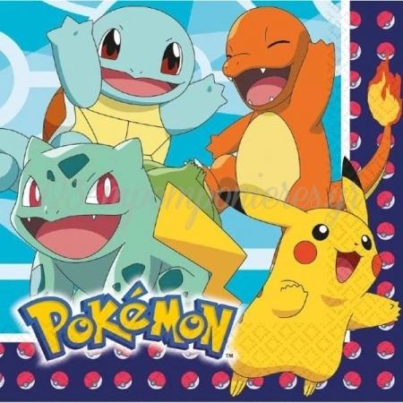 Χαρτοπετσετες Pokemon 33Cm - ΚΩΔ:9904821-Bb