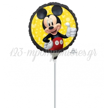 """Μπαλονι Foil 9""""(23Cm) Mini Shape Mickey Mouse Forever - ΚΩΔ:542183-Bb"""