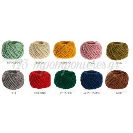 Κορδονι Λινο Σε Διαφορα Χρωματα 2Mmx50M - ΚΩΔ:5075-Nu