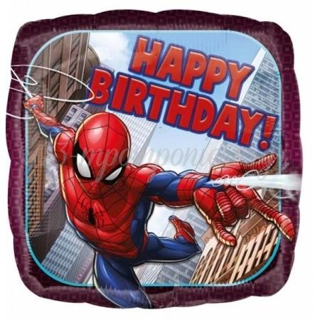 """Μπαλονι Foil 18''(45Cm) Spiderman """"Happy Birthday"""" - ΚΩΔ:534664-Bb"""