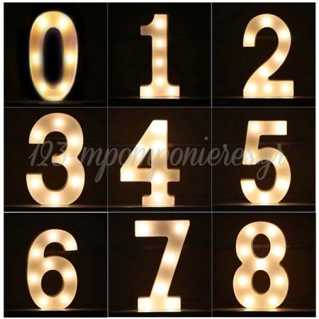 Αριθμος 8 Με Led Φως 21.5X13Cm - ΚΩΔ:535B9098-Bb