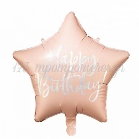 ΜΠΑΛΟΝΙ FOIL 16''(40cm) HAPPY BIRTHDAY ΡΟΖ ΑΣΤΕΡΙ - ΚΩΔ:FB93-081PJ-BB