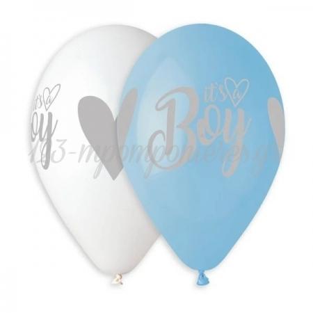 Μπαλονι Λατεξ 13''(33Cm) Τυπωμενο It'S A Boy Ασημι Εκτυπωση - ΚΩΔ:13613924-Bb