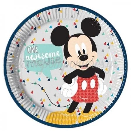 Χαρτινα Πιατα Φαγητου Mickey Awesome 23Cm - ΚΩΔ:89000-Bb