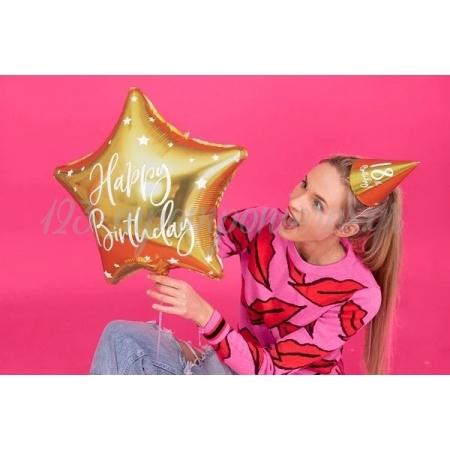 ΜΠΑΛΟΝΙ FOIL 16''(40cm) HAPPY BIRTHDAY ΧΡΥΣΟ ΑΣΤΕΡΙ - ΚΩΔ:FB93-019-BB