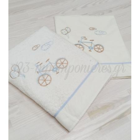 Λαδοπανα Για Αγορι Εκρου Ποδηλατο - ΚΩΔ:13162-Al-123