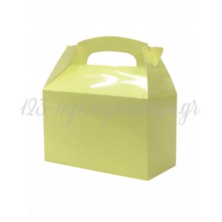Κουτι Party Box Σε Παστελ Κιτρινο Χρωμα - ΚΩΔ:20-19353-Jp