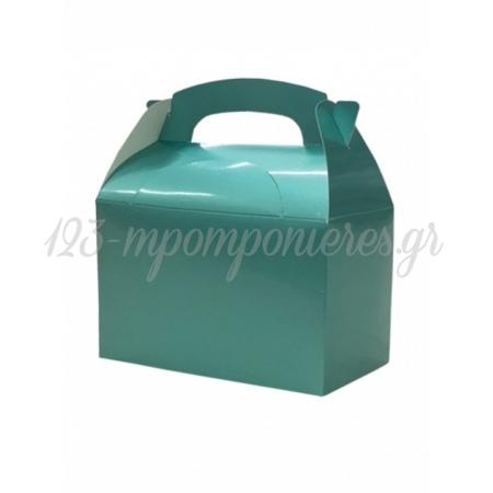 Κουτι Party Box Σε Μεταλλικο Aqua Χρωμα - ΚΩΔ:20-19357-Jp