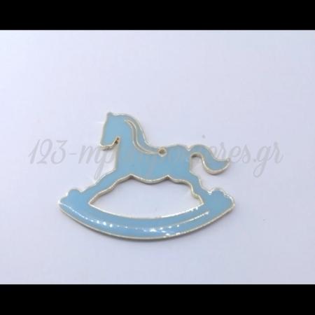 Μεταλλικο Αλογακι Σιελ 5Χ6Cm - ΚΩΔ:M120-Rn
