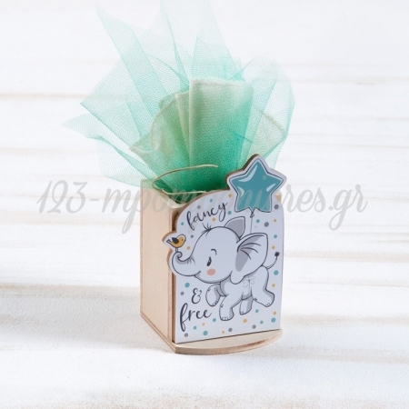 Ξυλινη Μολυβοθηκη Ελεφαντακι - ΚΩΔ:Ml962-Pr