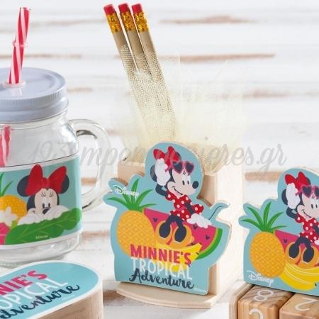 Ξυλινη Μολυβοθηκη Minnie Tropical - ΚΩΔ:Na1109-Pr