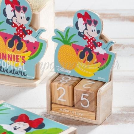 Ξυλινο Ημερολογιο Minnie Tropical - ΚΩΔ:Na1110-Pr