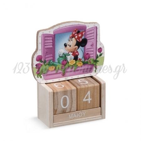 Ξυλινο Ημερολογιο Minnie Λουλουδια - ΚΩΔ:Na189-Pr