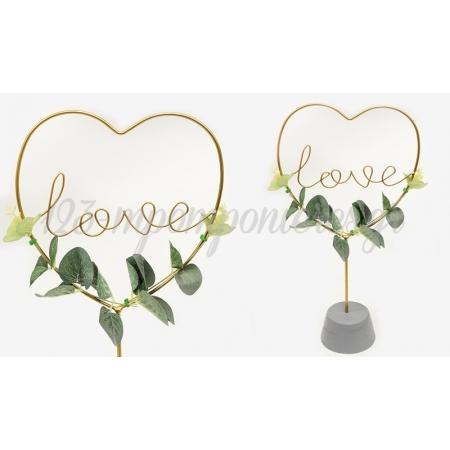 Μεταλλικο Σταντ Καρδια Love 39.5Cm Bs19-127A - ΚΩΔ:621351