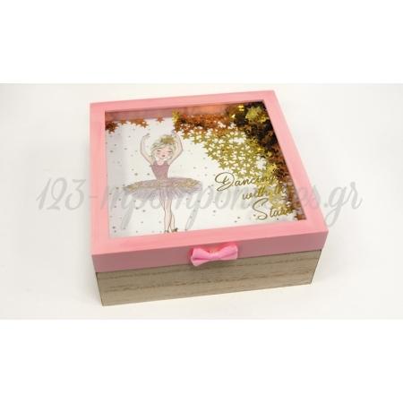 Ξυλινο Κουτι Με Καπακι Μπαλαρινα 19.5Cm Bs20-515 - ΚΩΔ:621359