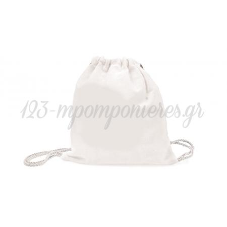 Σακιδιο Πλατης Λευκο 30X25Cm Xyx21-0419 - ΚΩΔ:621367