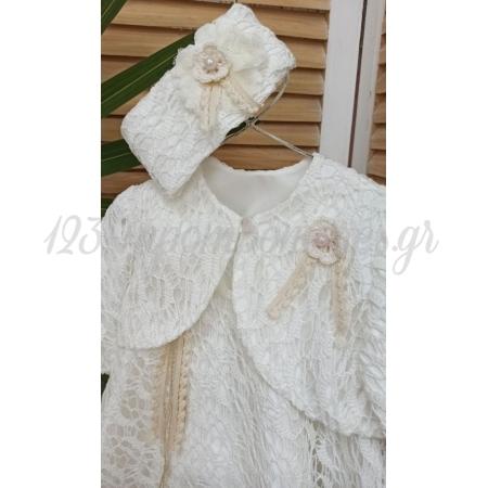Φορεμα Με Μπολερο Και Κορδελα Μαλλιων 12-18Μ - Σετ 3 Τμχ - ΚΩΔ:Bebe417-123