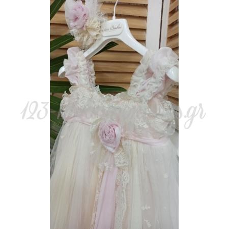Φορεμα Ασυμμετρο Με Κορδελα Μαλλιων 12-18Μ - ΚΩΔ:Ssg5-123