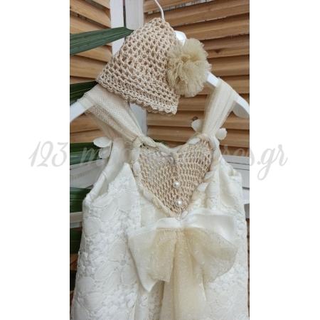 Φορεμα Ασυμμετρο Με Πλεκτο Σκουφακι 12-18Μ - ΚΩΔ:Ssg9-123