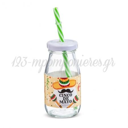 Γυαλινο Μπουκαλι Γαλακτος Mexican 200Ml - ΚΩΔ:Sr968-Pr
