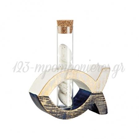 Κεραμικό Ψάρι με Τρύπα 11.5X7.5X3.5cm - ΚΩΔ:M4654-AD