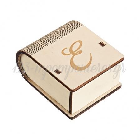 Ξύλινο Κουτί με Μονόγραμμα 8X4.5X10cm - ΚΩΔ:M10431-AD