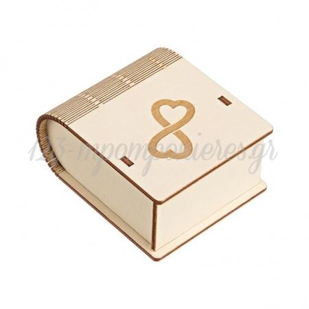 Ξύλινο Κουτί με Χάραγμα Άπειρο 8X4.5X10cm - ΚΩΔ:M10433-AD