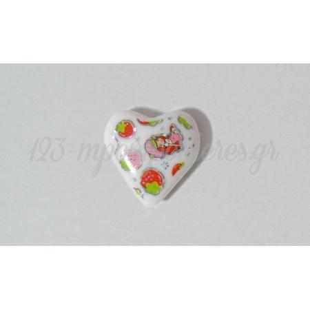 Καρδια Φραουλιτσα Τυπωμενη 2.5X2.5Cm - ΚΩΔ: 5175552