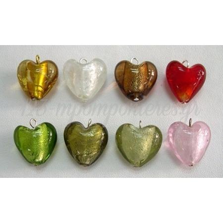 Καρδια Γυαλινη Κρεμαστη 2.1X2.1Cm - ΚΩΔ: 517220