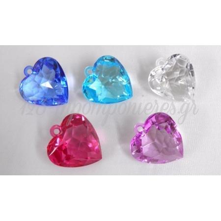 Καρδια Κρεμαστη Διαμαντοκομμενη 4X4X3Cm - ΚΩΔ.: 517517
