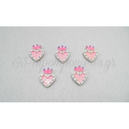 Καρδια Κορωνα Ακρυλικη 2.5X2Cm - ΚΩΔ.: 5191803