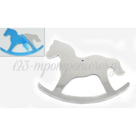 Αλογο Μεταλλικο Ασημι 7X9Cm - ΚΩΔ: 519209