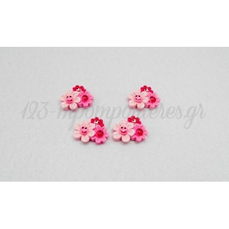 Λουλουδια Ακρυλικα 2.5Χ2Cm - ΚΩΔ.: 5191800