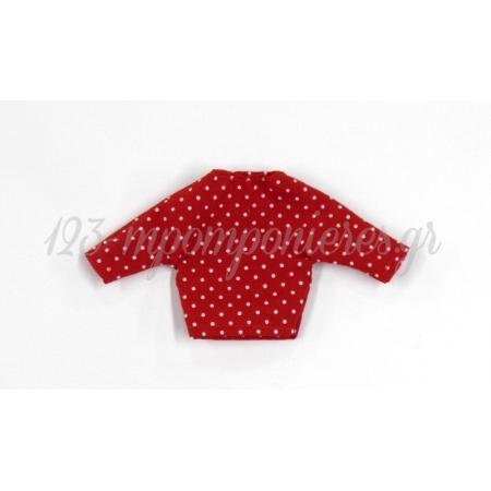 Μπλουζακι Πουα Κοκκινο 17X9Cm - ΚΩΔ: 508018