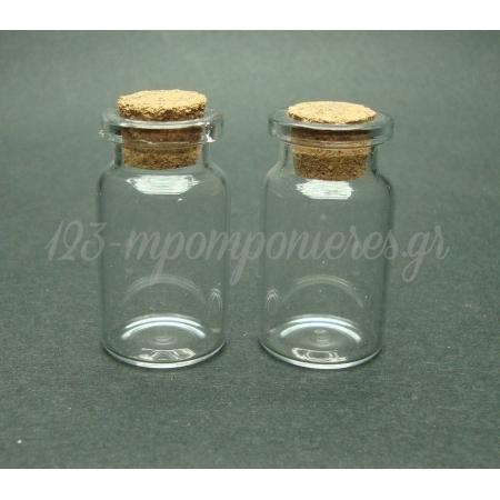 Μπουκαλακια Γυαλινα Με Φελλο 4,5Cmχ21Mm - ΚΩΔ.: 0800130005-Fellos
