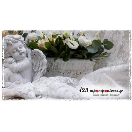 ΣΤΟΛΙΣΜΟΣ ΓΑΜΟΒΑΠΤΙΣΗΣ ΜΕ VINTAGE ΑΓΓΕΛΑΚΙΑ ΣΤΟ ΑΓΙΑΣΜΑ ΕΥΚΑΡΠΙΑΣ ΚΩΔ.: ANGEL-1328