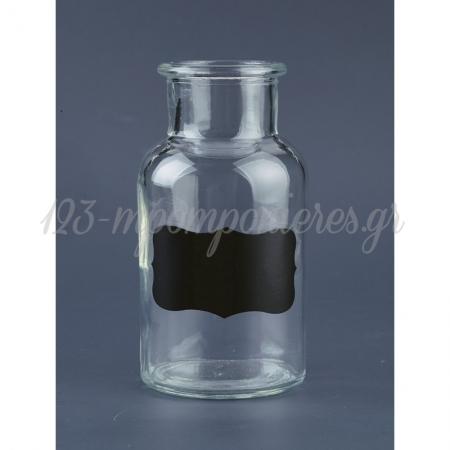 Μπουκαλακια Γυαλινα Με Μαυροπινακα 6.5X12.5 Cm - ΚΩΔ: Jy7065-252-Nu