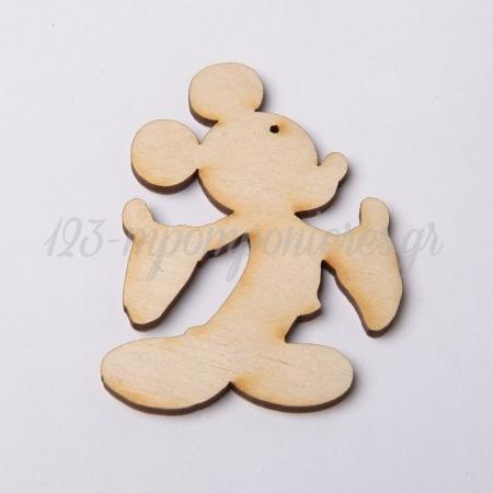 Ξυλινος Διακοσμητικος Mickey Mouse 8Χ5 Εκατ. - ΚΩΔ:4625-Mc