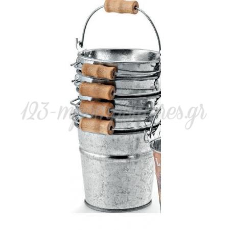 Μεταλλικα Κουβαδακια Με Ξυλινο Χερουλι 8Χ8 Εκατ. - ΚΩΔ:M7705-Ad
