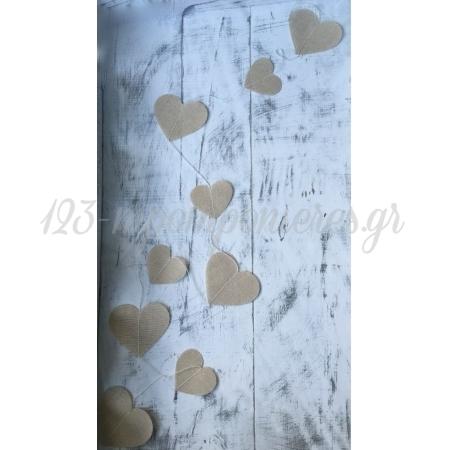 Γιρλαντα Με Λινες Καρδιες - ΚΩΔ:Y200-Rn