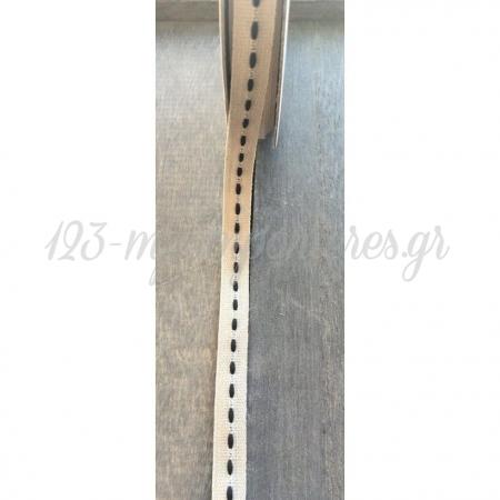 Κορδελα Λινη Με Γαζι - Φυσικο - Blue Black - 1Εκ.X18,28Μετρα - ΚΩΔ:A52-Rn