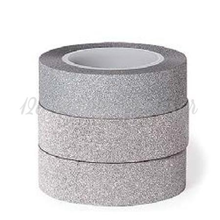 Washi Tape Ασημι Glitter -15Mmχ10M - ΚΩΔ:102555-Gn