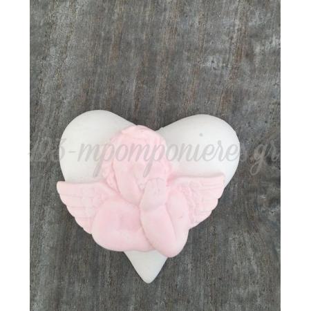Καρδια Με Αγγελακι 5,4Εκ - ΚΩΔ:B52-Rn